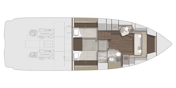 Cranchi A44 Luxury Tender plan